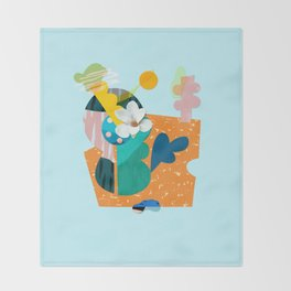 A flower in Antibes Throw Blanket
