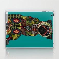 pug love teal Laptop & iPad Skin