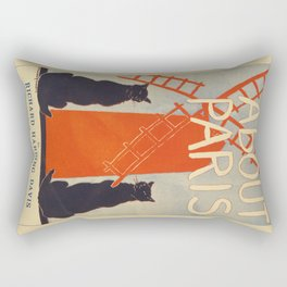 ABOUT PARIS VINTAGE POSTER Rectangular Pillow