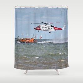 Rhyl Air Sea Rescue Shower Curtain