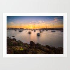 Howth harbour - Ireland (RR140) Art Print