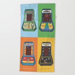 Batteries Not Included Coleco Mini Arcade Beach Towel
