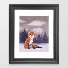Lone Fox Framed Art Print