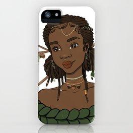 Autumn Oak Goddess • Black Girl Magic in Fall Colors iPhone Case
