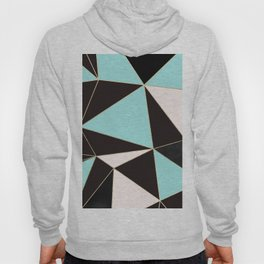 Elegant pink teal black abstract geometrical Hoody