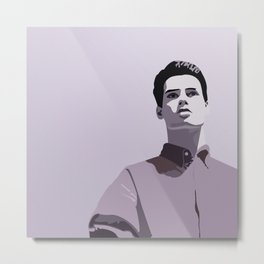 Model Man A (Purple Hue) Metal Print