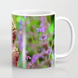 Gold and Purple Allium Garden Coffee Mug