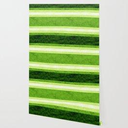 Grunge Stripes Simple Modern Minimal Pattern - Lime Green Wallpaper