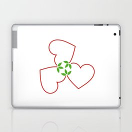 Red hearts for valentines day and love Laptop & iPad Skin
