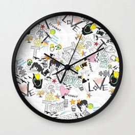 Pop Art ( Cartoon Pattern) V2 Wall Clock