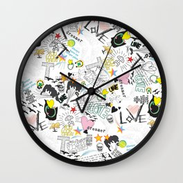 Pop Art ( Cartoon Pattern) V2 Wall Clock