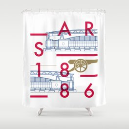 Emirates - Arsenal - Typoline Stadiums Shower Curtain