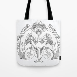 Forked Face Tote Bag