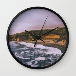 Punakaiki Sunset Wall Clock