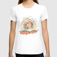T-shirts featuring The Geometry of Sunrise by Dianne Delahunty