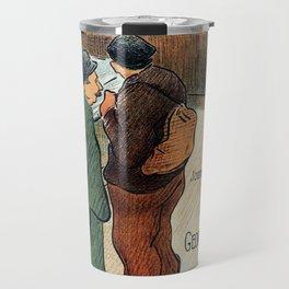 L'Escarmouche Vintage French bar scene Travel Mug
