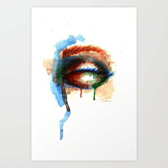 Watercolor Eye Art Print