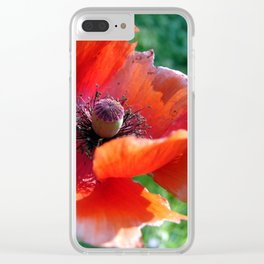 Tattered Poppy Clear iPhone Case