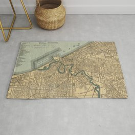 Vintage Map of Cleveland OH (1894) Rug