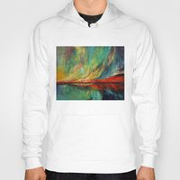 aurora Hoodies featuring Aurora by Michael Creese