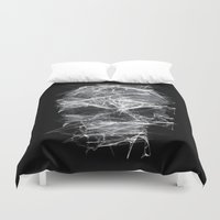 cigarettes Duvet Covers featuring SKLL3 by karakalemustadi