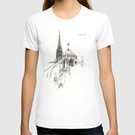 Notre Dame Cathedral Sketch T-shirt