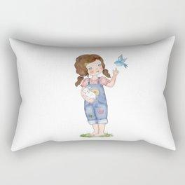 Bluebird cute illustration Rectangular Pillow