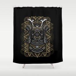 Samurai mask Shower Curtain