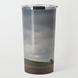 Horse running open prairie Travel Mug