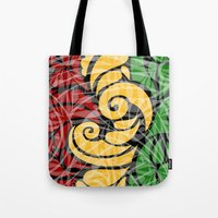 rasta Tote Bags featuring Rasta Colors by Lonica Photography & Poly Designs
