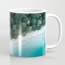 Green and Blue Symmetry - Landscape Photography Coffee Mug