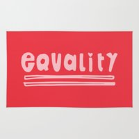 equality Area & Throw Rugs featuring Equality by MaJoBV