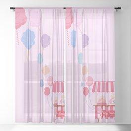 Cotton Candy Shop Sheer Curtain