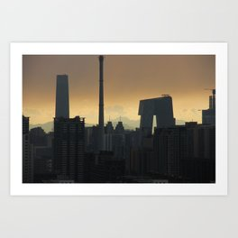 Western Sky, Beijing Art Print