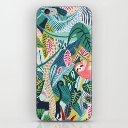 Jungle Sloth & Panther Pals iPhone Skin