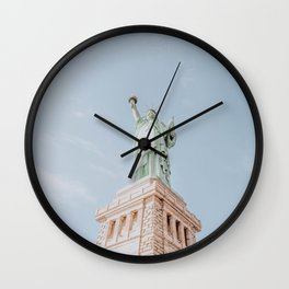 new york city iii / statue of liberty Wall Clock