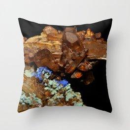 Quartz oxydé, azurite et malachite Throw Pillow