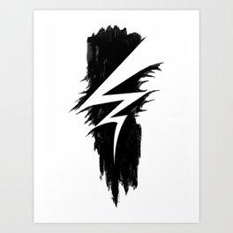 Lightning Arts Logo Art Print