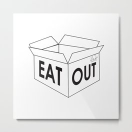Eat Out Metal Print