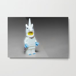 White Unicorn Metal Print