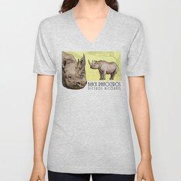 Black Rhinoceros Unisex V-Neck