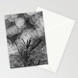 Bokeh Explosion black and white Stationery Cards