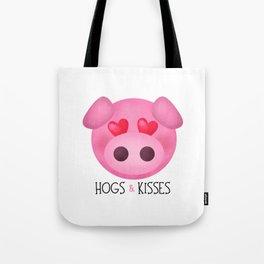 Hogs & Kisses Tote Bag