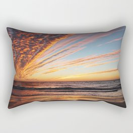 Sunset on the beach. Rectangular Pillow