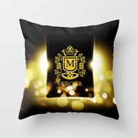 logo Throw Pillows featuring Logo by Azeez Olayinka Gloriousclick