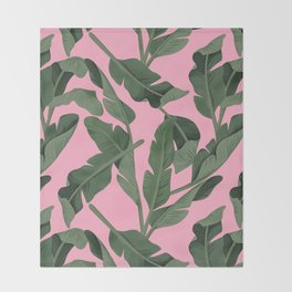 Tropical '17 - Forest [Banana Leaves] Throw Blanket