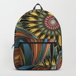 Peeping in, artistic floral design Backpack