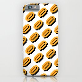 Super M. Bros coins pattern | retrogaming nostalgic pattern iPhone Case