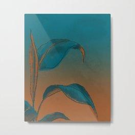 Plant at sunset Metal Print