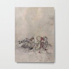 """""""Midsummer Fairies"""" by Arthur Rackham Metal Print"""